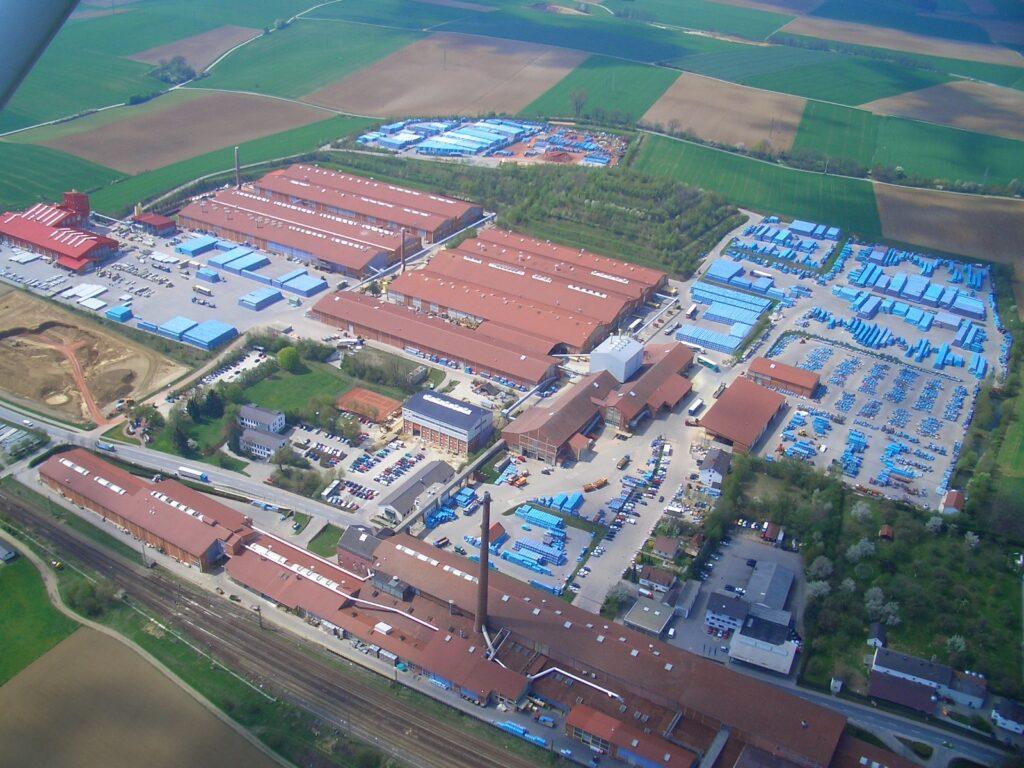 Bilde ERLUS fabrikk i Tyskland